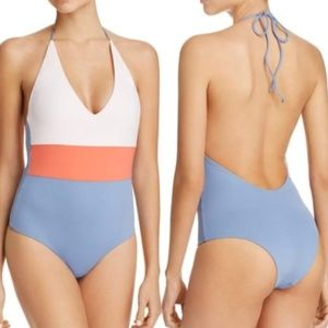 Tavik Chase Colorblock Tie Swimsuit Pink Blue